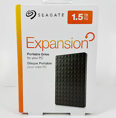 "Seagate Expansion 1.5TB Portable 2.5"" USB 3.0 External Hard Drive STEA1500400"