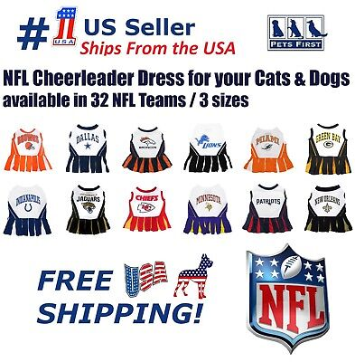 NFL Cheerleader Outfit for Dogs/Cats. 32 Football Teams, 3 Sizes. Licensed, NEW!](Dog Cheerleader Outfit)