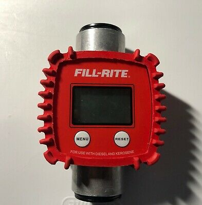 Fill-rite Digital In-line Meter Fr1118a10 For Use With Diesel Kerosene.