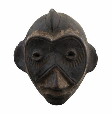 Mask Diminutive Ibibio Pasport Divination Terracotta Art African 16949