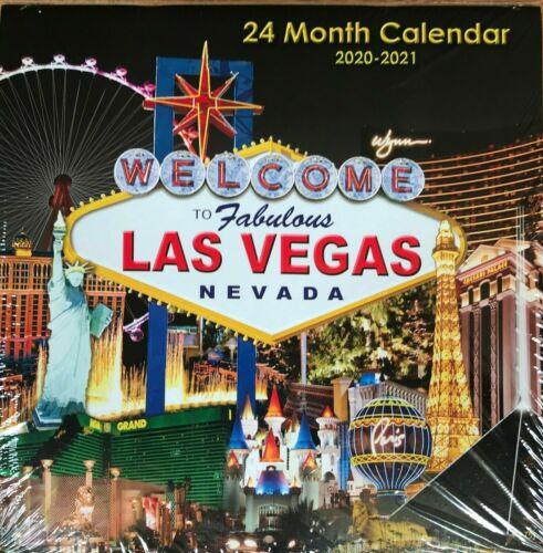 LAS VEGAS 2020 - 2021 24 MONTH WALL CALENDAR W/BEAUTIFUL PICTURES & CASINO VIEWS