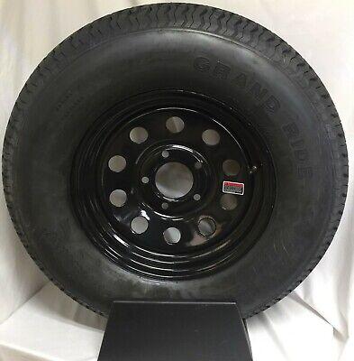 Trailer Tire On Rim ST225/75R15 225/75 R 15 Load E 5 on 5 Black Modular Wheel
