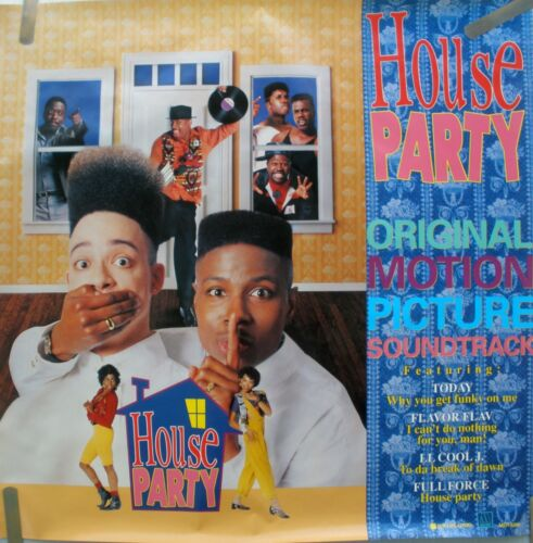 RARE HOUSE PARTY SOUNDTRACK 1990 VINTAGE ORIG HIP HOP MUSIC RECORD PROMO POSTER