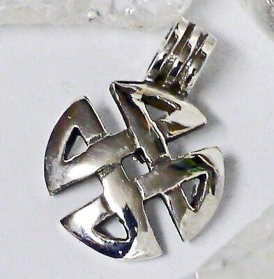 mini Nordischer Knoten Anhänger Wikingerknoten Anhänger 925 Silber Mittelalter