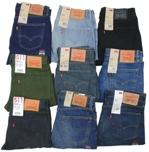 Levis 511 Mens Jeans~~~Slim/Skinny Fit~~~Stonewash, Blue, Black, MORE~~~NEW!!!