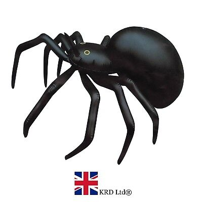 HALLOWEEN INFLATABLE SPIDER Blow Up Toy Spooky Scary Party Decoration 91cm (Halloween Inflatables)
