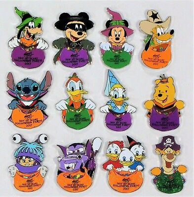 Disney Mickey Not So Scary Halloween Party 2017 Mystery Box 12 Pin SET CHASERS (Halloween Party Mystery Box)