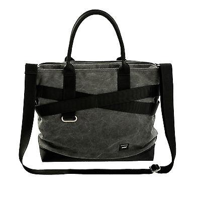 "Crumpler THE GYPSY Moth No 2 (15"")  Tote Bag Messenger Bag- Mid grey / black"