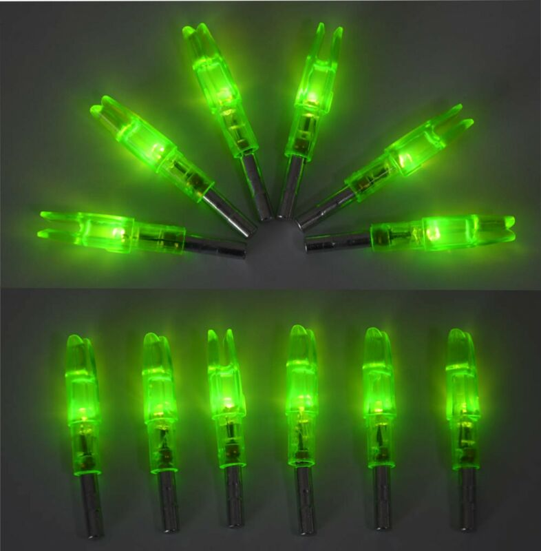 12pcs Archery LED Lighted Arrow Nocks Glowing Tail ID62mm Outdoor Hunting Target