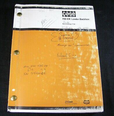Case 780 Ck Construction King Loader Backhoe Parts Manual Book Catalog 780ck Oem