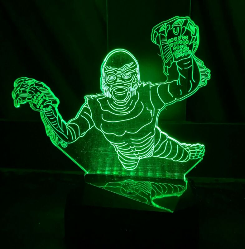 Creature from the black lagoon swimming light