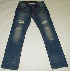 ELEMENT-Mens-Denim-Distressed-Skinny-Leg-Jeans-Size-32-NEW