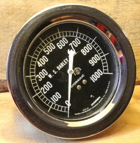 W. S. DARLEY & CO CHICAGO ILL Hydraulic Pressure Gauge Marsh Instruments Rare +