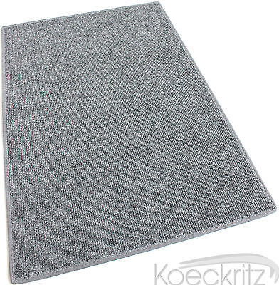 Gray Indoor Outdoor Area Rug with Latex Backing Carpet Many Sizes