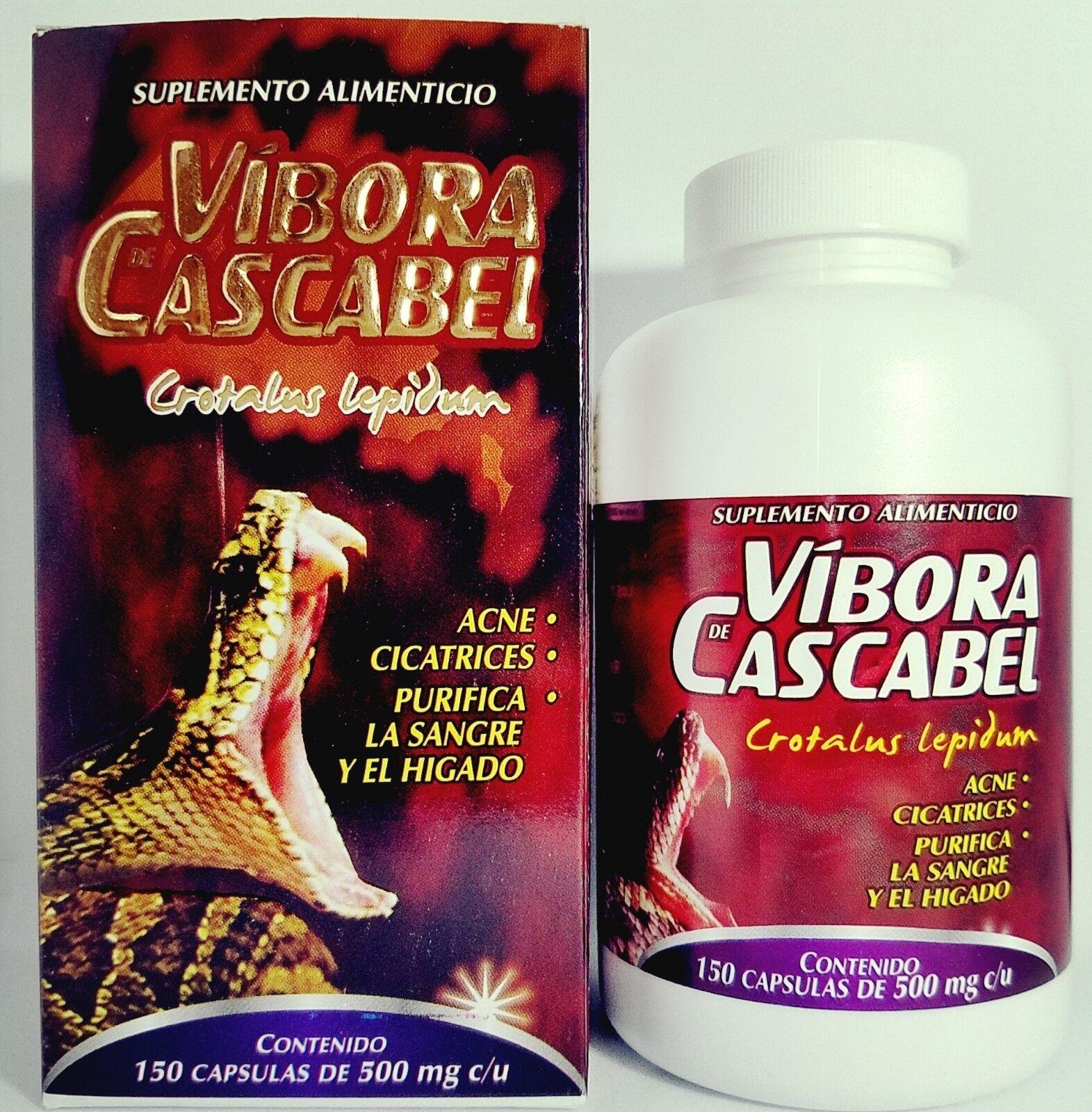 VIBORA DE CASCABEL 150 capsulas ORIGINAL RATTLESNAKE POWDER VIPERINAE