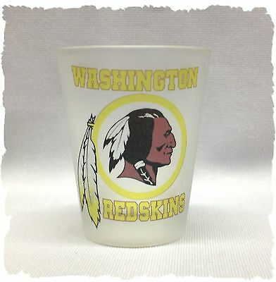 Washington Red Skins Frosted Shot Glass (Washington Red Skins)