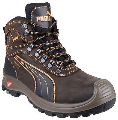 Puma Sierra Nevada Mid Safety Work Boots 630220 Brown S3 Sizes 6-13 Composite
