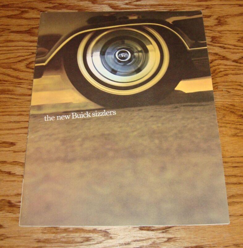 Original 1965 Buick Sizzlers Deluxe Sales Brochure 65 Skylark Wildcat Riviera