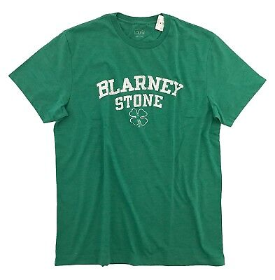 J Crew Factory - Mens XL - Kelly Green Blarney Stone Four-Leaf Clover Irish Tee