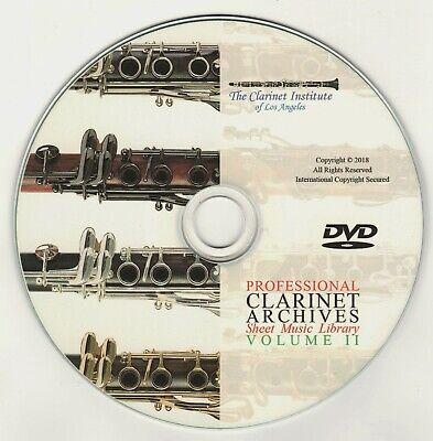 Professional CLARINET SHEET MUSIC Vol. 2 Archive DVD - Flash Drive - PDF