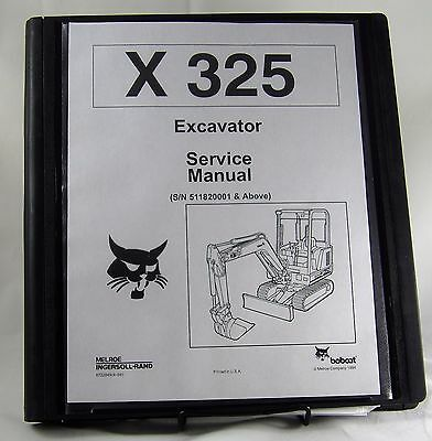 Bobcat X325 Excavator Service Manual 6722849