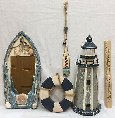 Wholesale Nautical Decor ( Nautical Home Decor Lighthouse Key Holder Boat Mirror w/ Shells Ring Oar Lot)