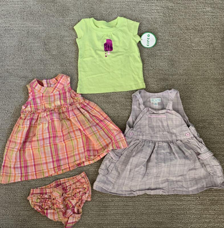 Lot Of Baby Girls Gap Dress 3-6m Childrens Place 12m Circo Shirt 9m