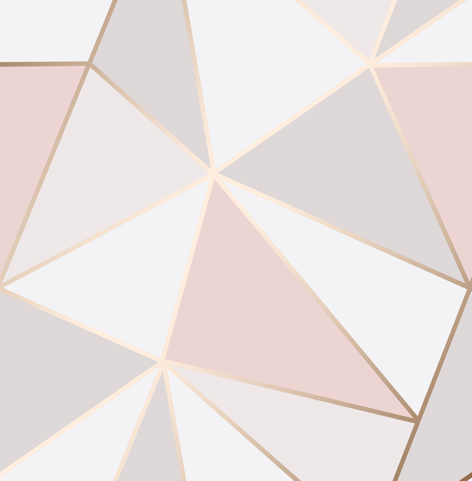 Apex Pink Gold Shapes Luxury Heavyweight Feature Wallpaper Fine