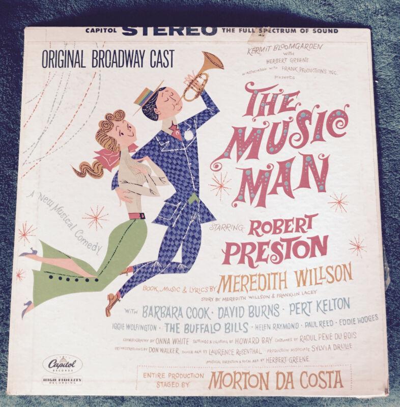 "The Music Man Robert Preston Original Broadway Cast 12"" 33 RP 1957 Capitol Mint"