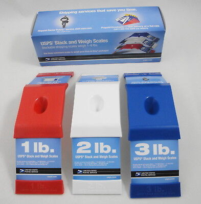 Usps Stack And Weigh Stackable Shipping Scales 1 - 6 Lbs Red White Blue 23140037