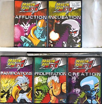 Dragon Ball Gt Series Complete Collection Set 1  All Uncut   5 Dvd Vol 1 2 3 4 5