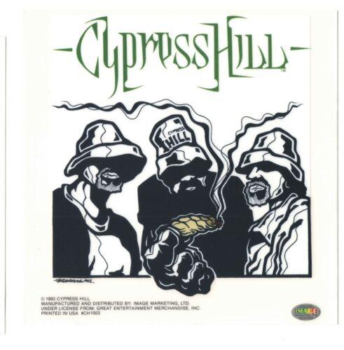"""Cypress Hill  """" Blunt """" Static Sticker - Peel & Stick 6"""" X 6"""" Vintage 1993"""