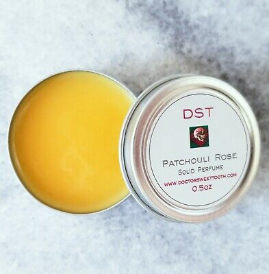 Patchouli Solid Perfume (PATCHOULI ROSE Handmade Scented Solid Perfume Tin (.5oz))