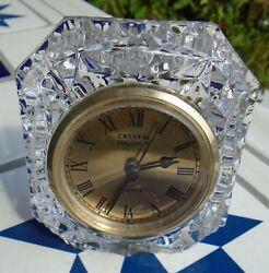 Clock Crystal Glass Godinger Desktop Crystal Legends Quartz Movement 1