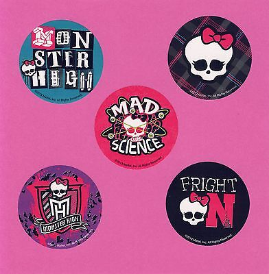 15 Monster High - Skull - Large Stickers - Party Favors (Monster High Party)