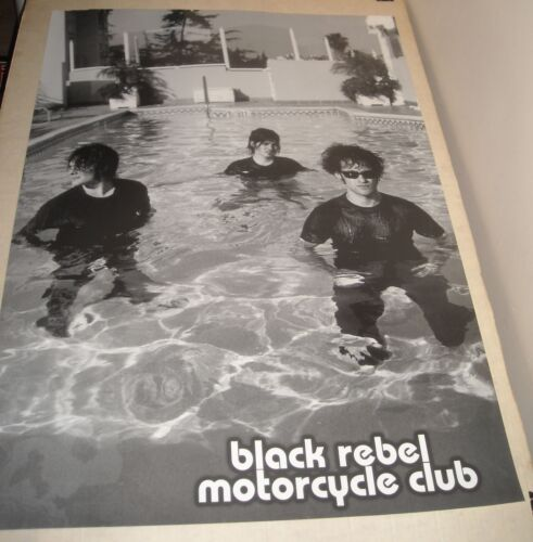 ROLLED BLACK REBEL MOTORCYCLE CLUB PINUP POSTER BAND in HOTEL POOL