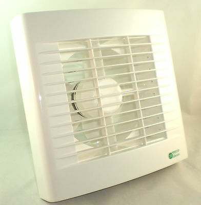 """Airvent White Kitchen Standard Extractor Fan 6"""" 150mm - Made At Vent Axia"""