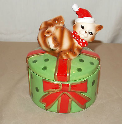 NEW CHRISTMAS HOLIDAY MRS CAT JEWELRY TRINKET BOX CANDY HOLDER PRESENT GIFT 6