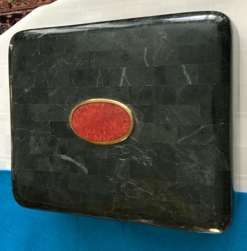 Green stone humidor from Phillappines Fromm 1980s