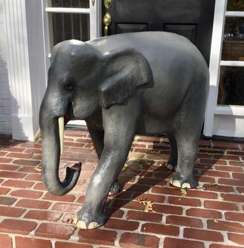LARGE VINTAGE PAPER COMPOSITION ELEPHANT