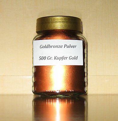 500 g-Glas Kupfer Gold Bronze Pulver z.B f. Bilderrahmen Engel Möbel Spiegel...