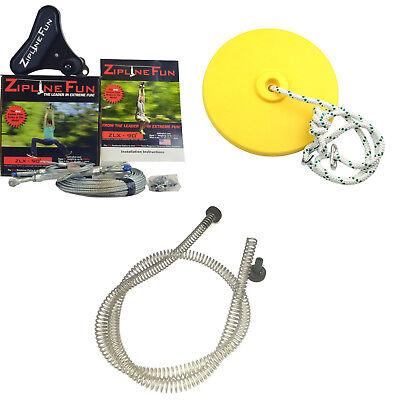Adventure Parks ZLX Xtreme 90' Zipline Fun Trolley & Cable Kit with Seat & Brake](Zipline Fun)