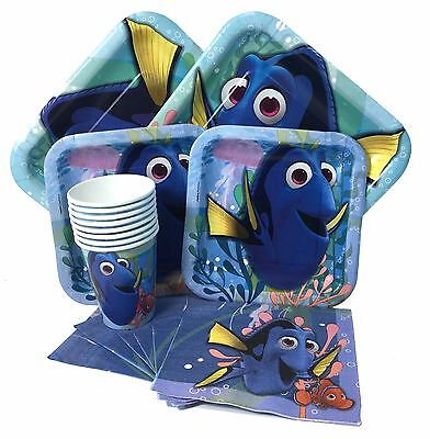 NEW Finding Dory Nemo Party Express Pack for 8 Guests (Cups Napkins & Plates) (Finding Nemo Party Decorations)