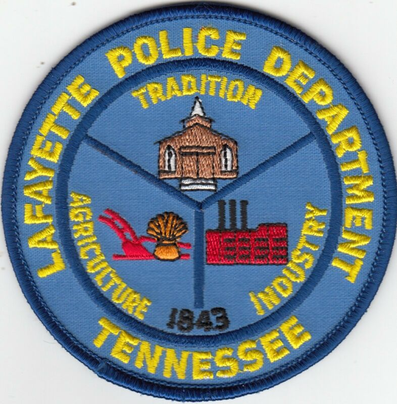 LAFAYETTE POLICE DEPARTMENT SHOULDER PATCH TENNESSEE TN