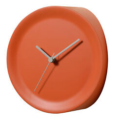Alessi - GIA20 O Ora In - Corner mounted Clock 21cm Diameter, Orange