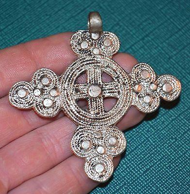Handmade Vintage Ethiopian Orthodox Christian Cross Pendant Ethiopia, Africa