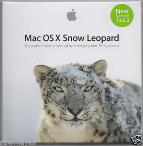 Apple Mac OS X Snow Leopard 10.6.3 Retail Install DVD for Mountain Lion Upgrade