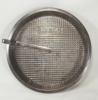 Vintage OVENEX Perfect Bakeware WAFFLE PATTERN Metal Round Baking Slide CAKE PAN