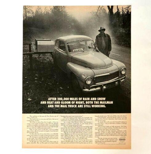 1968 Volvo 544 Advertisement US Mail Man Photo Vintage Print AD