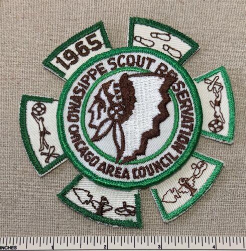 VTG 1960s OWASIPPE RESERVATION Boy Scout Camp PATCH & SEGMENTS BSA Uniform Badge